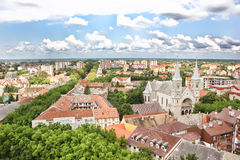 Panorama of Subotica stock images