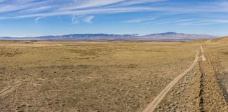 Panorama Sucha Pustynna równina Obrazy Royalty Free