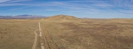 Panorama suchy ląd i Sucha równina Zdjęcia Royalty Free