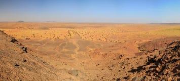 Panorama Sudan pustynia Obrazy Stock
