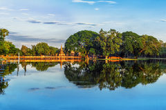 Panorama of Sukhothai historical park. Thailand Royalty Free Stock Image