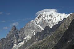 Panorama sulle alpi dell'italiano del Monte Bianco Fotografia Stock Libera da Diritti
