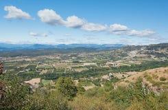 Panorama sulle montagne di Ardeche Fotografia Stock Libera da Diritti