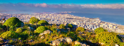 Panorama of the summer morning on the town Trapani Royalty Free Stock Photography