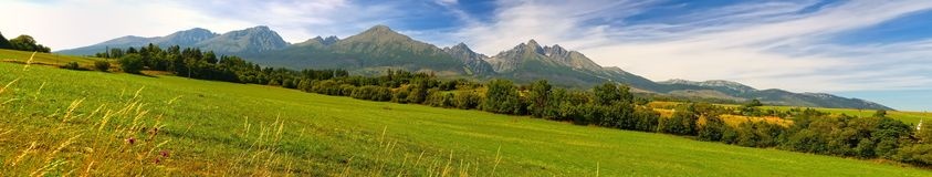 Panorama. Summer mountain landscape. Royalty Free Stock Images