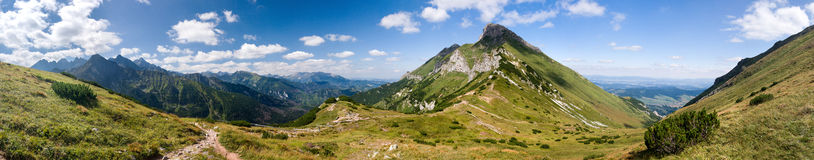 Panorama of summer mountain ridge Stock Image