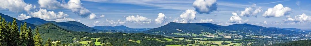 Panorama of summer mountains Royalty Free Stock Image