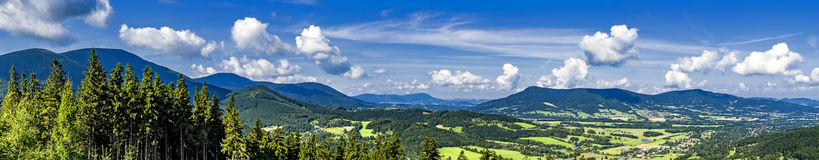 Panorama of summer mountains Stock Photography