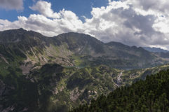 Panorama of summer mountains under the clouds. High Tatras Stock Photography