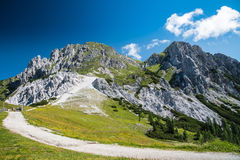 Panorama in summer mountains Royalty Free Stock Images