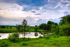 Panorama of summer in Russia Stock Photo