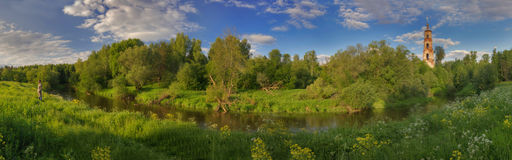 Panorama of summer in Russia Royalty Free Stock Photo