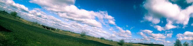 Panorama. Summer in village Royalty Free Stock Photo