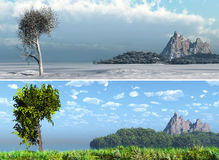 Panorama summer, winter Royalty Free Stock Photography