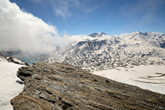 Panorama from the summit Royalty Free Stock Photo