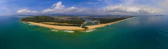 The panorama  of Sun River Bridge Royalty Free Stock Photo