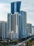 Panorama of Sunny Isles Beach city. In Greater Miami area, Florida, USA Royalty Free Stock Image