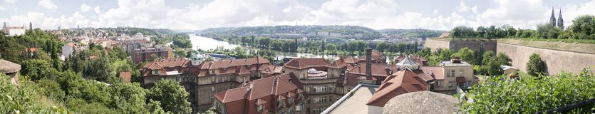 Panorama of sunny Prague Royalty Free Stock Image