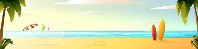 Panorama. Sunny summer beach sunny summer beach Stock Image