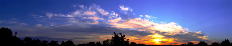 Panorama sunrise. Panorama sky sunrise dawn Stock Photo