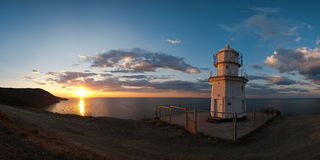 Panorama sunrise at Cape Meganom Royalty Free Stock Photos