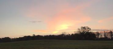 Panorama sunrise. New York Nature Royalty Free Stock Photos