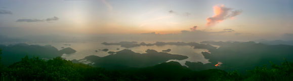 Panorama of sunrise Royalty Free Stock Photography