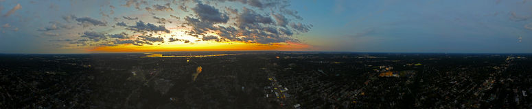 Panorama of a  Sunset Royalty Free Stock Photos