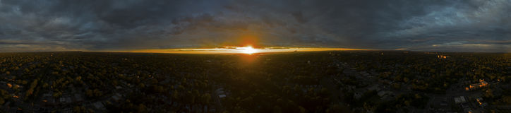 Panorama of a  Sunset Royalty Free Stock Images