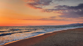 Panorama of sunset Royalty Free Stock Images
