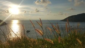 Panorama sunset from the hill top. At phuket Thailand Royalty Free Stock Image