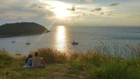 Panorama sunset from the hill top. At phuket Thailand Stock Image