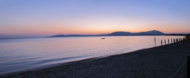 Panorama of sunset over beach Royalty Free Stock Photos