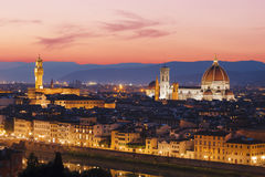 Panorama sunset over Florence, Royalty Free Stock Photo