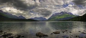Panorama superiore del lago trail, passaggio delle alci Immagine Stock Libera da Diritti