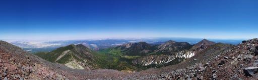 Panorama superiore della montagna Fotografia Stock Libera da Diritti