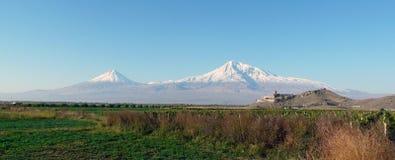 Panorama sur la montagne Ararat Photographie stock