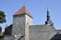 Panorama sur la vieille ville de Tallin Photographie stock