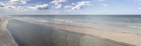 Panorama sur une mer baltique Image stock