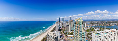 Panorama of Surfers Paradise Stock Images