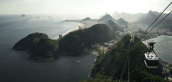 Panorama surpreendente de Rio de janeiro da montanha de Sugarloaf Fotos de Stock