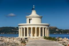 Panorama surpreendente em torno do farol de St Theodore em Argostoli, Kefalonia, Grécia Foto de Stock