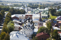 Panorama of Suzdal. Russia. Suzdal is one of the towns included in the famous tourist route the Golden ring Royalty Free Stock Photography