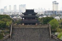 Panorama of Suzhou, China Stock Photography