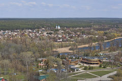 Panorama of Sviatohirsk. View from St. Nicolas Church Royalty Free Stock Photography