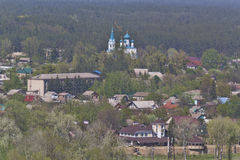 Panorama of Sviatohirsk. View from St. Nicolas Church Stock Photo