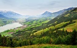 Panorama in Svizzera Fotografie Stock Libere da Diritti