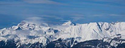 Panorama svizzero della montagna Fotografia Stock Libera da Diritti