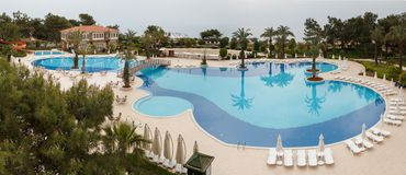 Panorama of swimming pool Stock Photography