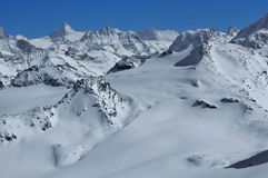 Panorama of swiss alps Royalty Free Stock Images